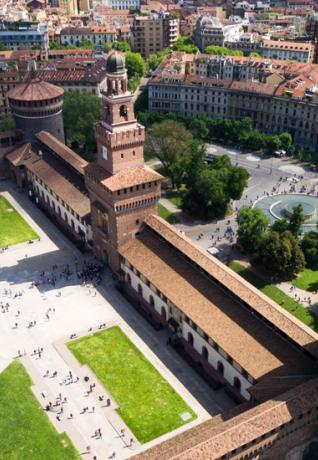 Sforza Castle: view from above