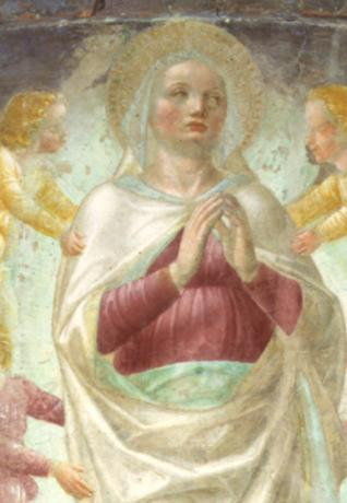 Basilica di Sant'Eustorgio - Fresco depicting the Assumption of the Virgin Mary