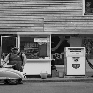 Gas station in viale Regina Giovanna in the 60's