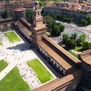 Castello Sforzesco from above