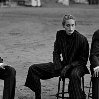 Alexandra Carlsson, Beri Smither, Harue Miyamoto – Beauduc 1993 – Photo by Peter Lindbergh. Courtesy Giorgio Armani
