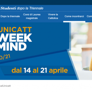 Università Cattolica Open Day website