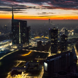 Milano panoramica notte