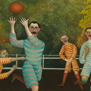 Henri Rousseau, The Football Players (detail)